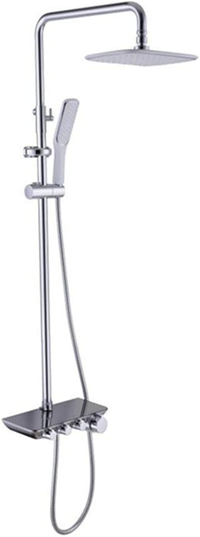Shower Set, Full Copper Shower, Shower Faucet Shower, Rack, Lift Boost