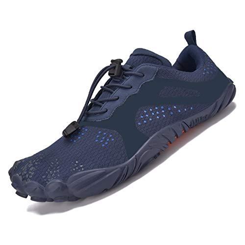 JACKSHIBO Zapatos descalzos para hombre y mujer, zapatos de verano, secado rápido, transpirables, zapatillas de fitness, antideslizantes, para trekking o trail, color, talla 42 EU