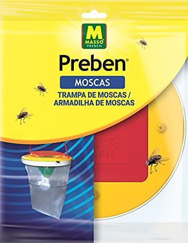 PREBEN 231081 Minitrap Exterior para Moscas, Rojo, 21.4x29x2 cm