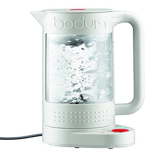 Bodum 11659-913EURO Bistro Elektrischer kocher, doppelwandig mit Temperaturregelung Kunststoff 19.5 x 23 x 26.5 cm, weiß
