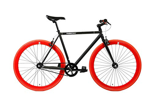FabricBike- Bicicleta Fixie, piñon Fijo, Single Speed, Cuadro Hi-Ten Acero, 10Kg (M-53cm, Matte...