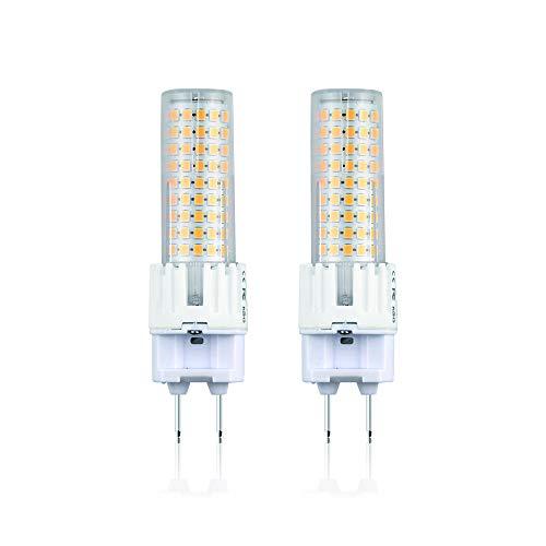 Bonlux G12 LED Lampe 15W 2-Stifte Bi Pin Mais Birne AC85-265V Warmweiß 3000k 360 Grad Ersatz für 150W Halogen-Metalldampflampe (2-Stück, Nicht Dimmbar)