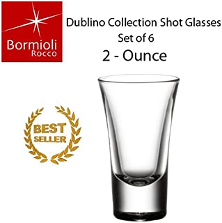 Bormioli Rocco Party Dublino Shot Glasses, Clear, Set of 6 (2 Ounce)