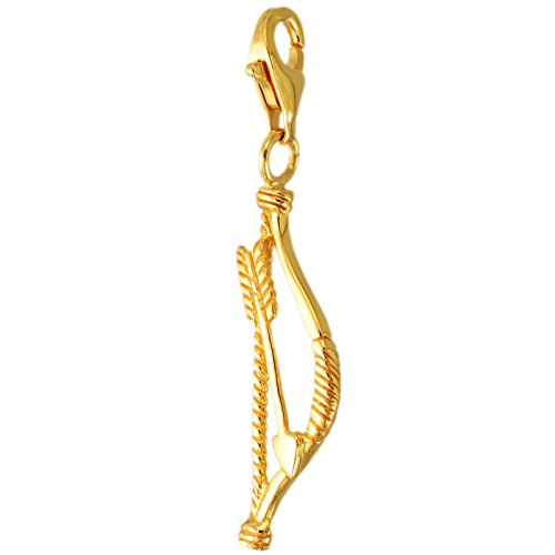MELINA Charm Anhänger Pfeil und Bogen vergoldet Gelbgold Silber 925 1801853