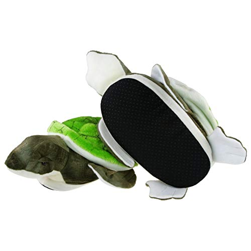 Tierhausschuhe Hausschuhe Schildkröte, Grün, 41/42, 216-0001-G6