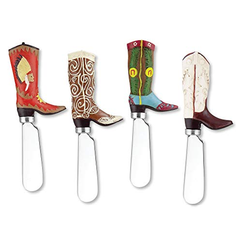 Supreme Housewares - Cowboy Boot Knife Cheese Spreaders - Set of 4