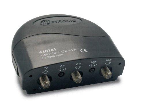 Métronic 410141 - Amplificador con función acoplador (UHF+VHF, 5 V)