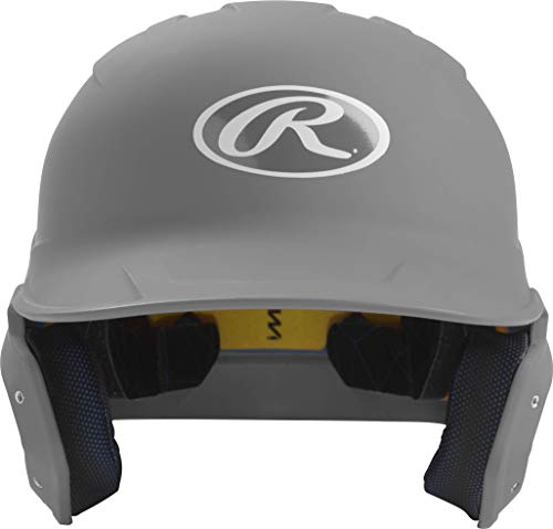 Rawlings MACH Baseball Batting Helmet, Junior, Matte Silver