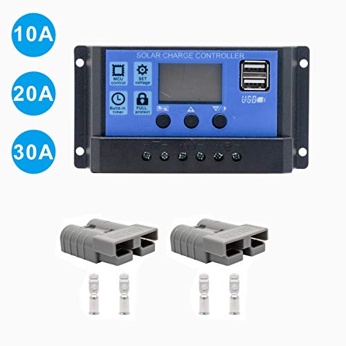 Maso 10A-30A 12V-24V contrôleur de charge intelligent Régulateur de charge solaire avec écran LCD Auto Régulateur minuterie Panneau solaire batterie lampe éclairage LED