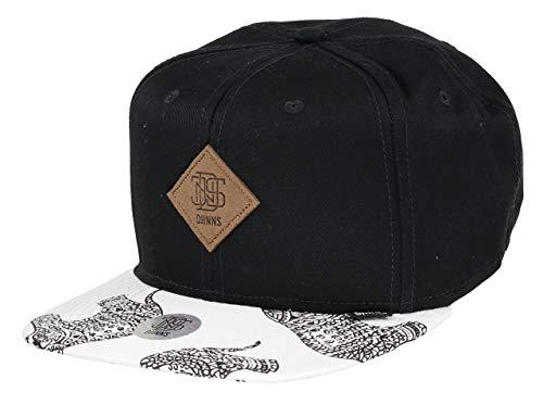 Djinns - Crazy Pattern (HennaElephant/Black) - Snapback Cap Baseballcap Hat Kappe Mütze Caps