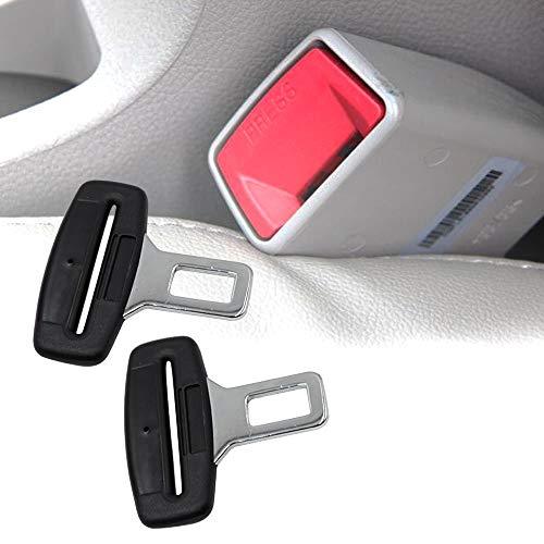 TBoonor Anschnaller Adapter, Anti Gurtwarner, Gurtschloss, Gurtadapter, Gurtalarm Stopper, für alle Automarken - Universalverbinder Bajonett, in Schwarz (2er Pack)