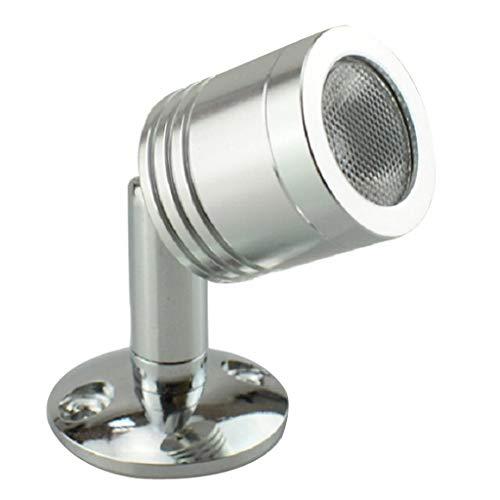 MagiDeal 1 W 12 V LED spotlight smycken vitrinskåp display vitrinlampa – varm vit 3 000 K, 250 mm