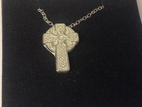 GIFTSFORALL Derbyshire UK Manschettenknöpfe Keltisches Kreuz FT34, aus feinem englischen Zinn