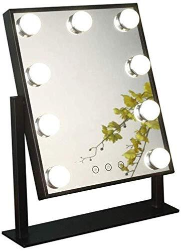 YNHNI Espejo Moderno de Moda de luz LED de Alta definición de Maquillaje Espejo con Tocador  Estilo Hollywood Maquillaje Espejo con 9/12 Espejo de Maquillaje Bombilla de luz Regulable,Viaje