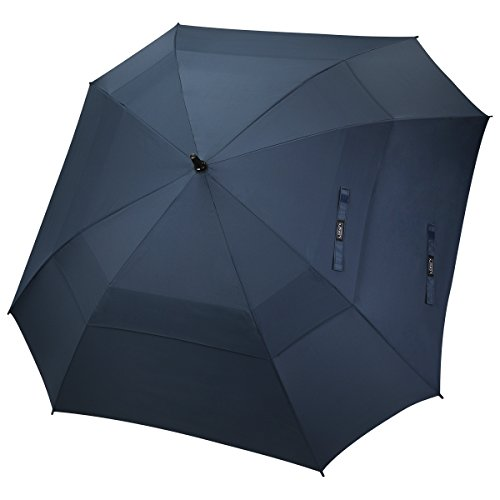 G4Free 62 Inch Oversize Double Canopy Vented Golf Umbrella Extra Large Square Umbrella Windproof Automatic Open Stick Umbrellas for Men Women