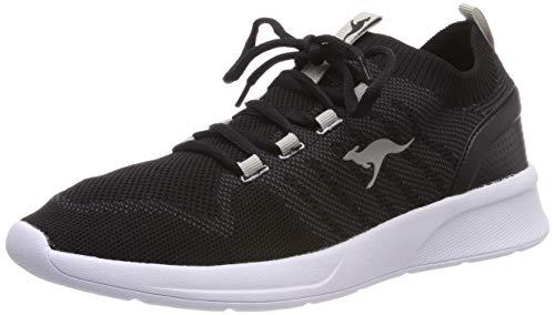 KangaROOS Unisex KangaFOAM Adult Sock Sneaker, Schwarz (Jet Black/Vapor Grey 5007), 36 EU