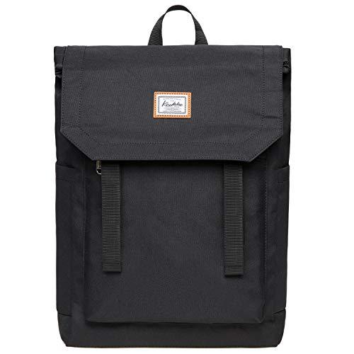 "KAUKKO Casual Daypacks Multipurpose Backpacks, Outdoor Backpack, Travel Rucksack, Laptop Backpack Fits 15"" (Nylon Black)"