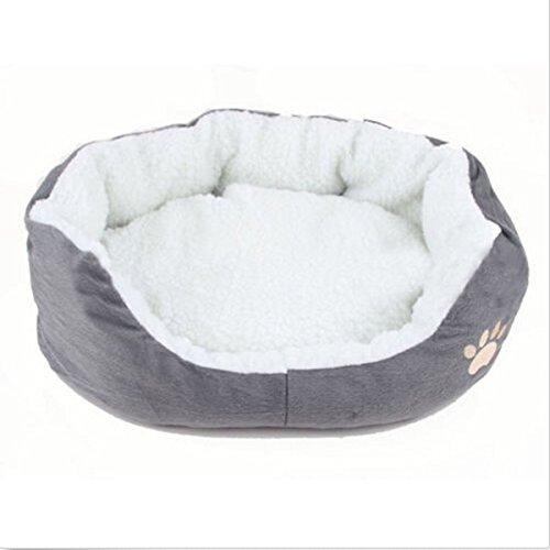 Cuccia rotonda o ovale in pile cane di piccola taglia