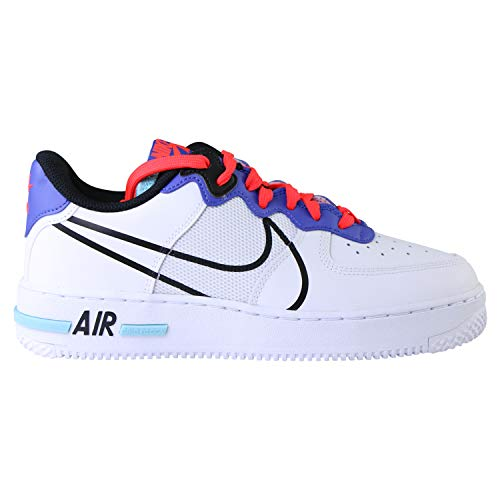 Nike Air Force 1 React (GS) Zapatillas de deporte, color blanco, color Blanco, talla 38.5 EU