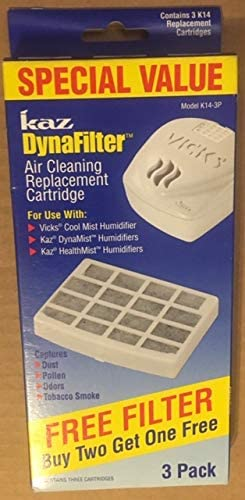 Kaz K14 3P Kaz Dynafilter Humidifier Air Cleaning 3 Replacement Cartridges for Vicks Cool Mist product image