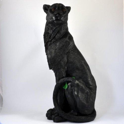 Grande Figurine décorative Motif Panthère Jaguar position assise imperméable