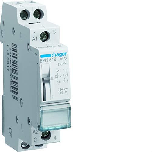 Hager EPN518 - Telerruptor 24v 16a 1na+1nc