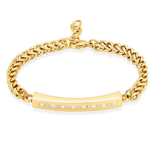 Crystal Cremation Jewelry Bracelet for Ashes for Women Stainless Steel Adjustable Urn Bangles for Ashes Memorial Keepsake Jewelry Ashes Bracelet gold