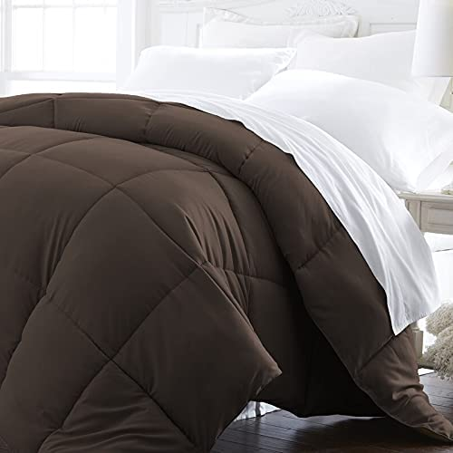 1 Piece Fluffy Chocolate Brown Twin Alternative Down excellence online shopping Comforter L