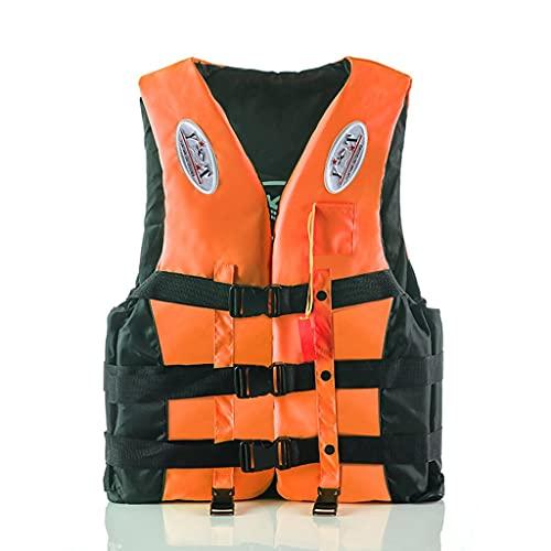 Lgan Chaleco Salvavidas para Adultos, Chaleco De Natación para Niños, Chaleco Flotador Unisexo, para Kayak,Pesca,Surf,Buceo,Deporte Acuático (Size : Orange XL)