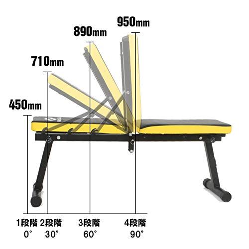 WASAI(ワサイ)トレーニングベンチフラットベンチインクラインベンチ【折りたたみ/コンパクト/収納便利】筋トレ折り畳みダンベルベンチ(MK600A)