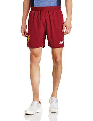 New Balance Men's Liverpool Home 2017/18 Shorts (S) Red