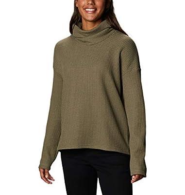 Columbia Women's Chillin Fleece Pullover, Stone Green Thermal, Medium