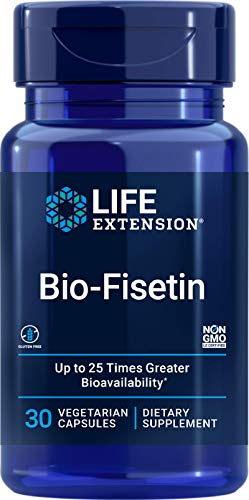 Life Extension Bio-Fisetin - Optimized Cellular, Cognitive & Longevity Support, Up to 25 Times Greater Bioavailability for Maximum Results - Non-GMO, Gluten-Free - 30 Vegetarian Capsules