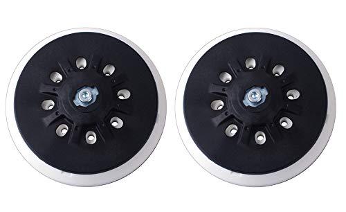 Plato de Lija 150 mm con 8 Orificios Compatible con Lijadoras Orbitales Festool ETS 150, ETS EC 150, LEX 150, WTS 150/7 Poweka (2 Piezas)