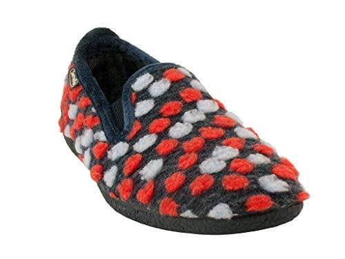 SEMELFLEX Valy - Zapatillas para mujer, Azul (azul marino), 41 EU
