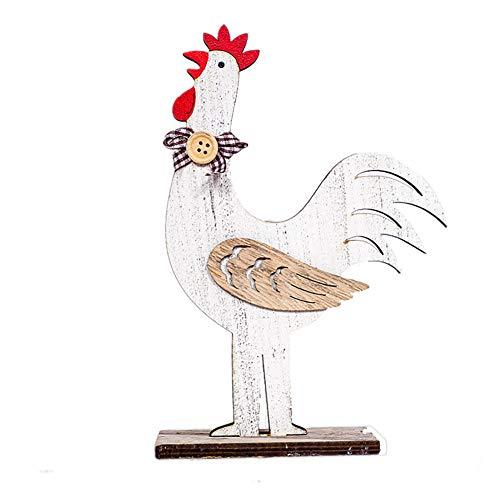 Drawihi Pâques Décoration Coq De Poule Ornements De Pâques Artisanat Pâques Surprise Grand Ensemble d'art Decoratif Surprise Cadeau De Pâques Decoratif(Poulet Coq)