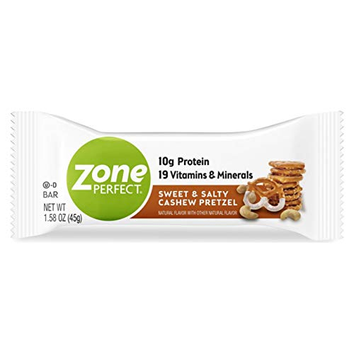 Zone Perfect Zoneperfect Protein bar, Sweet & Salty Cashew Pretzel, 20 Count, Sweet & Salty Cashew Pretzel, 20 Count