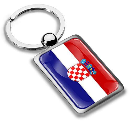 Skino sleutelhanger metaal sleutelring autosleutel geschenk metalen sleutelhanger sleutelhanger roestvrij staal Croatia Flag Kroatië vlag KK 229