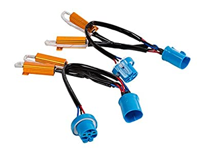 PAIR OF (2) {Bulb Type} - CANBUS RESISTORS ERROR FREE ADAPTERS FOR LED HEADLIGHT CONVERSION KITS