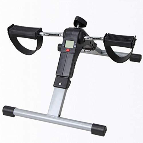 sjdxd Stepper Swing Stepper Folding Brazo y Pedal Pedal Ejercitor con Pantalla LCD Portátil de Interior Mini Ejercicio Resistencia a la Bicicleta Ajustable