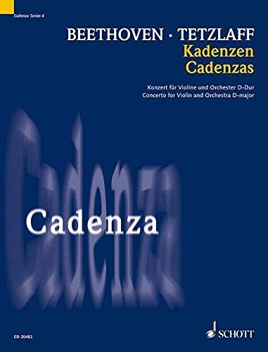 Kadenzen: zum Konzert für Violine und Orchester D-Dur op. 61. Violine und Pauken. Solostimme. (Cadenza, Band 6)
