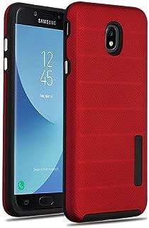Wydan Case for Samsung Galaxy J7 2018/J7 Refine/J7 Star/J7 Eon/J7 TOP/J7 Aero/J7 Crown/J7 Aura/J7 V 2nd Gen - Shockproof Hybrid Hard Dots Phone Cover