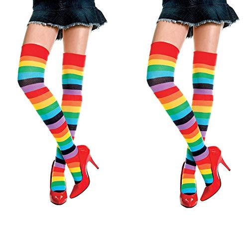 LOVARTS BEAUTY - Calcetines hasta la rodilla - para mujer arcoiris Talla única