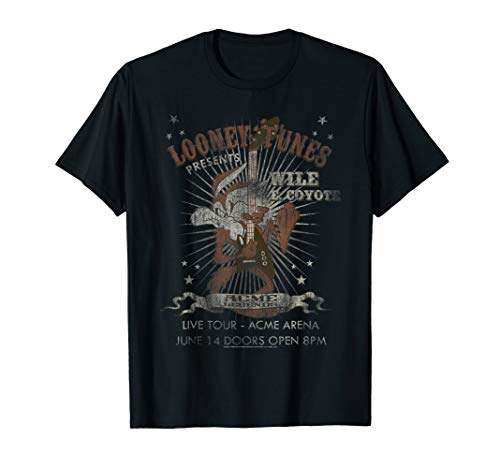 Looney Tunes Wile E Coyote Guitar Dark T-Shirt