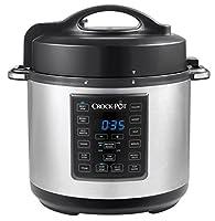 crock-pot csc051x-0 - express multicooker da 5.7 l, programmabile 12-in-1, cottura a vapore e a pressione, funzioni pre impostate, argento/nero