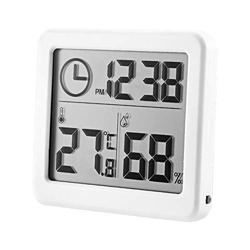 Kinbelle 温度計・湿度計 デジタル デジタル温湿度計 置き掛け両用タイプ 大画面 赤ちゃんの健康管理 温度・湿度の快適レベルをお知らせ 出産祝い プレゼント ベビー 贈り物 ホワイト