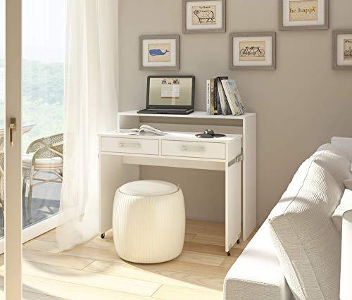 Selsey Table, Blanc Mat/Blanc Brillant, 100 x 39 x 88 cm