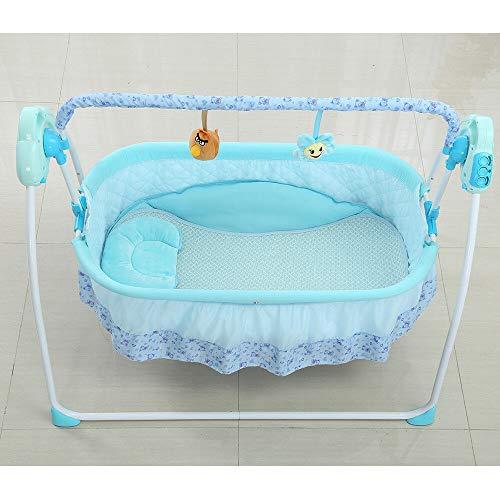 Savada Elektrische Baby Wiege - Automatik Babyschaukel Platz Safe Babywippe Babyschale Blau für...