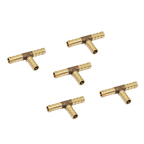 Sharplace 5 Pcs Connecteur De Tuyau d'eau Barbed Motif T Type Double Fitting Tubing Jardin Agricole - 8mm
