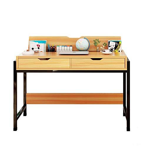 Home&Selected Computerbureau met 2 huishoudvakken, groot bureau, multifunctioneel bureau voor kinderen, tafelhouder 100*48*74cm Zwart